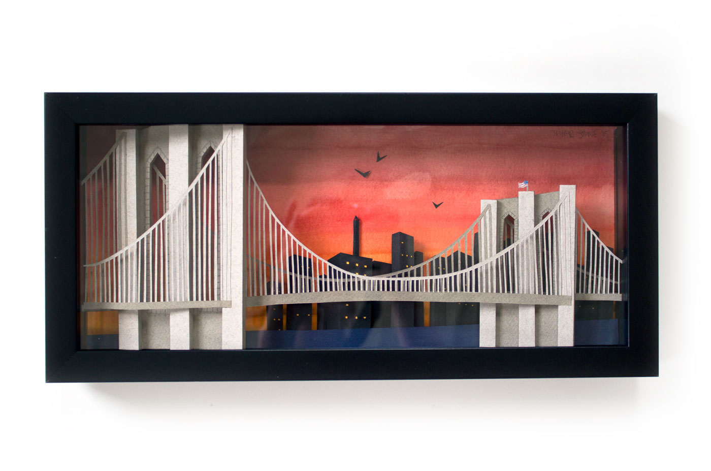Brooklyn Bridge: Custom Framed