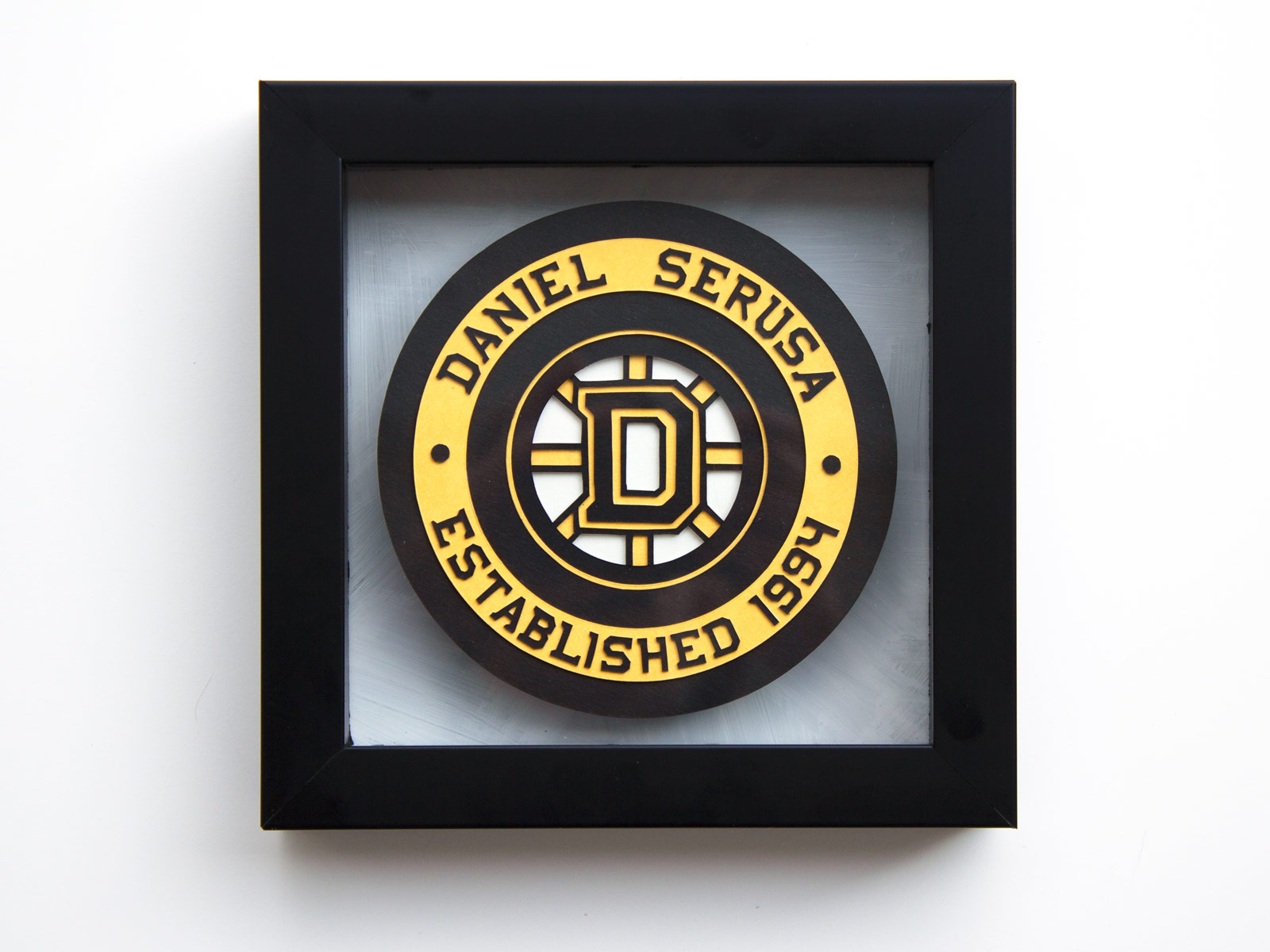 Framed Hockey Puck