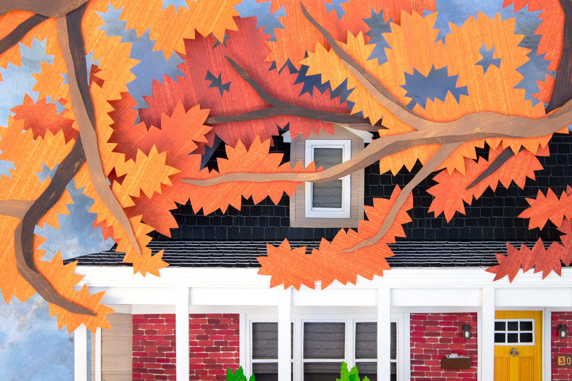 Fall House Tree Detail