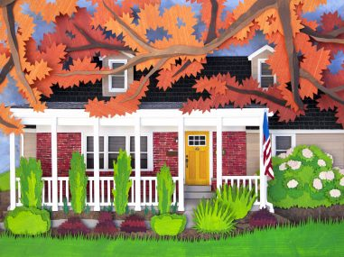The full view of this fall themed custom architectural order.