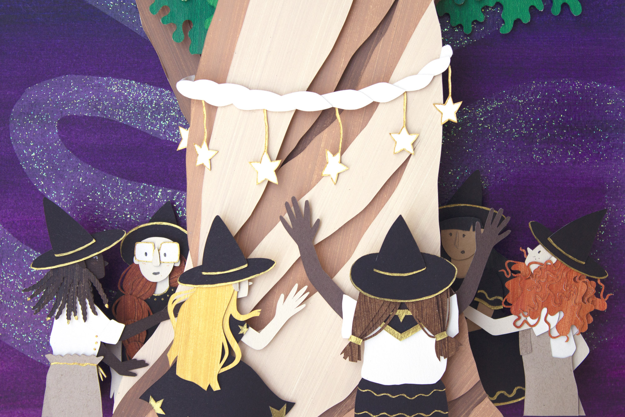 Closeup of witches